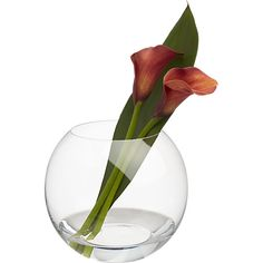 fishbowl vase in view all accessories   CB2