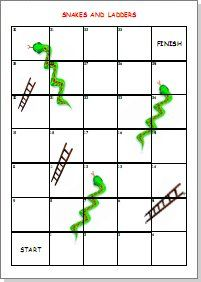 Here 39 s a set of editable snakes and ladders boards for for Printable snakes and ladders template