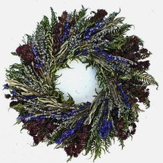 Dried Flowers And Wreaths Llc Fresh 22 Herbal Blues Wreath Dried Flower Wreaths, Dried Flowers, Floral Wreaths, Ribbon Wreaths, Yarn Wreaths, Burlap Wreaths, Christmas Wreaths To Make, Christmas Diy, Classy Christmas