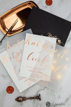 modern custom rose gold gold silver foil vellum paper wedding invitations SWFI005 #wedding #weddinginvitations #stylishwedd #stylishweddinvitations Affordable Wedding Invitations, Elegant Wedding Invitations, Gold Wedding Colors, Vellum Paper, Gold Gold, Wedding Paper, Wedding Designs, Stylish, Rose