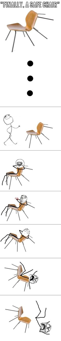 Safe chair? How safe? // funny pictures - funny photos - funny images - funny pics - funny quotes - #lol #humor #funnypictures