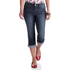 Faded Glory - Women's Cuffed Capri Jeans