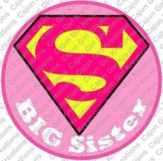 Supergirl Superman Pink Big Sister Printable Digital Iron On Transfer Clip Art…
