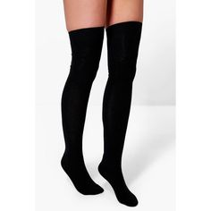 Boohoo Grace Over The Knee Socks 3 Pack ($16) ❤ liked on Polyvore featuring accessories