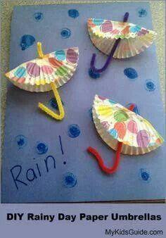 Cupcake liner umbrellas