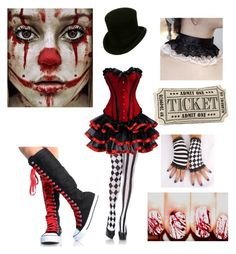 """""""Halloween costume idea #6 (Creepy Circus Girl)"""" by shadow-cheshire ❤ liked on Polyvore featuring Leg Avenue"""