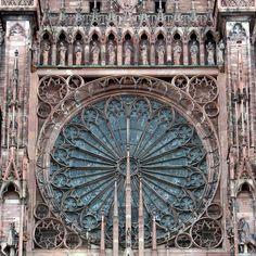 Rose window, Cathedral de Strasbourg