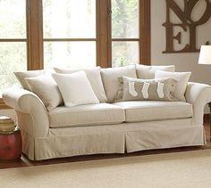 close enough??? under $2000 Charleston Slipcovered Sofa #potterybarn