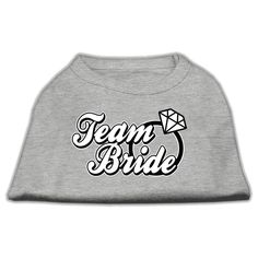 Mirage cat Products 16-Inch Team Bride Screen Print Shirt for cats, X-Large, Grey ^^ Check out this great image  : Cat Apparel