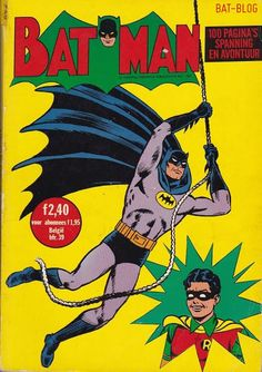 BAT - BLOG : BATMAN TOYS and COLLECTIBLES: Vintage 1960's FOREIGN #BATMAN COMIC BOOKS From The Netherlands!!