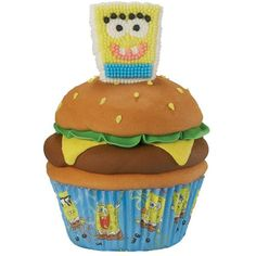 Snackin' with SpongeBob Cupcake