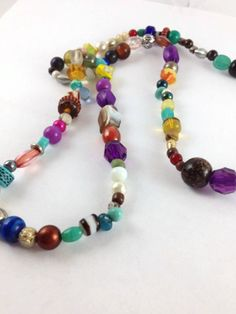 Mixed Bead Necklace Colorful bead Necklace by OpenHeartOneLove