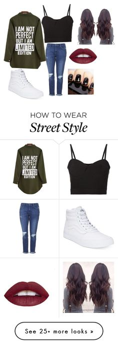 """""""Street Style"""" by its-elisa on Polyvore featuring Topshop, Alexander Wang and Vans"""