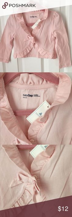 New GAP Toddler Girl Cotton Cardigan, Size 18-24M New with tags GAP cotton cardigan in light pink. Light material. Size 18-24M GAP Shirts & Tops Tees - Long Sleeve