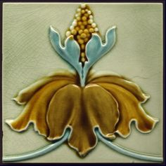 High Relief Art Nouveau Tile - Date: circa 1905