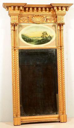 Original Framed Antique Reverse Painting On Glass Quot Castle