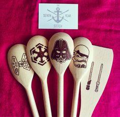 Star Wars 5 Piece Wooden Utensil Set.