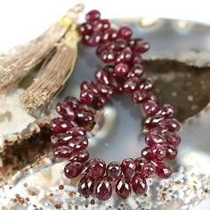 skj-jewelry - Untreated Red Ruby Gemstone Beads from Burma
