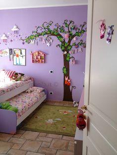 Camera delle bambine ,albero ,Monila handmade