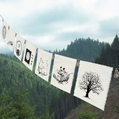 7 group prayer flags Earth by earthsteps on Etsy, $32.00