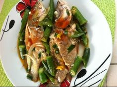Jamaican steamed snapper and okra - Jamaican style cooking
