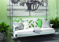 Chippendale Bed Swing from Cottage & Bungalow. Designer quality furniture with a price match guarantee. Porch Swings For Sale, Patio Swing, Diy Porch, Coastal Living Rooms, Beach Cottage Decor, Recycled Furniture, Bed Styling, Bed Swings, Bungalow
