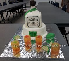 Coolest Tequila Cake... This website is the Pinterest of birthday cake ideas