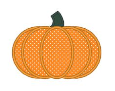Pumpkin Applique Embroidery Machine Design by OCDEmbroidery
