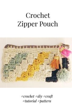 Crochet Zipper Pouch How-To by  Mona Rivera Reyes on @stellerstories #crochet #DIY #gifts #make #kids #project #craft