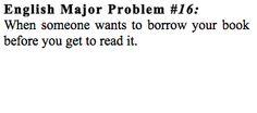 English Major Problem #16