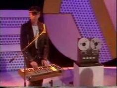 """Dave Gahan was only 19 in this! They were on Saturday-morning TV in the UK. A """"first-and-last"""" appearance really, the first time I saw them all in leathers, and the last time with Vince Clarke. Love the old TEAC reel-to-reel for the drum track. Music Film, Music Songs, Music Videos, Music Love, My Music, Depeche Mode Albums, Martin Gore, Enjoy The Silence, Amazing Songs"""