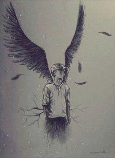 angel, drawing, and art image Newt Maze Runner, Maze Runner Series, Cool Drawings, Drawing Sketches, Angel Drawing, Drawing Rain, Deep Drawing, Arte Horror, Dark Art