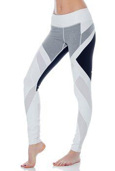 Vimmia Activewear Allegiance Legging in White/Black/Heather Grey