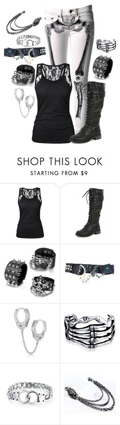 """""""Untitled #857"""" by xxmymusicscarespeoplexx ❤ liked on Polyvore featuring Kreepsville 666, Wild Diva, Maria Tash and Bling Jewelry"""
