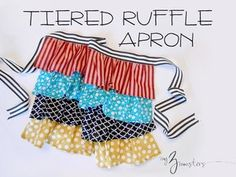 Tiered Ruffle Apron Tutorial from My Three Monsters