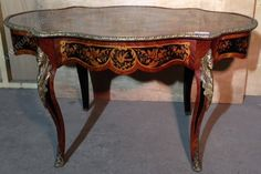 Marquetry Table - Antiques Atlas