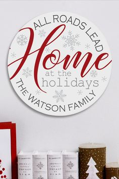 As family and friends gather from near and far, our plaque says it all: home is where our hearts are—especially at Christmastime! Wall Hanger, Door Hangers, Personalized Christmas Gifts, Wood Plaques, Holiday Wishes, Serving Trays, Christmas Decorations, Holiday Decor, Unique Gifts