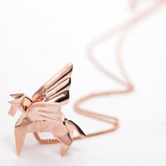 Origami jewellery   Sautoirs Argent Or Rose