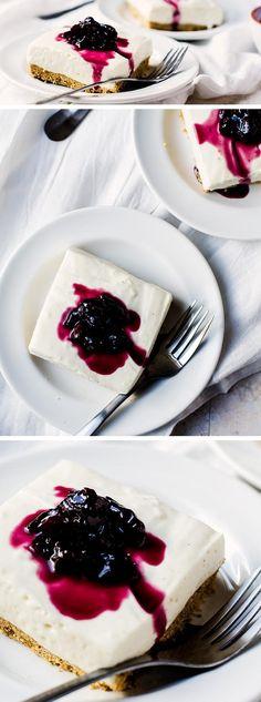 No-bake Cheesecake Bars