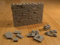 "wall technique No. 6 ""Upgrade"" – wall technique No. Lego Hogwarts, Lego Design, Lego Moc, Lego Lego, Lego Technic, Lego City, Pokemon Lego, Lego Boards, Avengers"