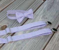 Lavender Purple Bow Tie and Suspender set  Men by CottonKandyShop, $25.00