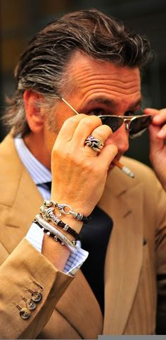 Mr.Gianpaolo Alliata - I dig the wrist bands (which is a manly word for bracelet :)