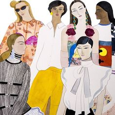 """""""Clothes We Love"""" illustration for @instylemagazine March issue #fashionillustration #instylemagazine"""