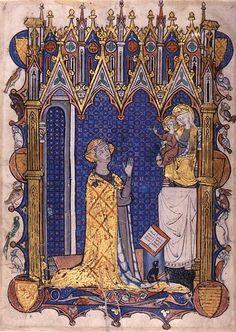 Yolande de Soissons in Prayer - Psalter/Hours of Yolande de Soissons, France, Amiens, ca. 1280–90. New York, The Morgan Library and Museum, MS M.729, fol. 232v