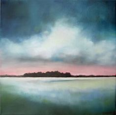 "Saatchi Art Artist Nancy Hughes Miller; Painting, ""White Light Marsh"" #art"