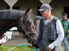 Cozmic One and his trainer John. 2014