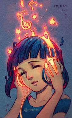Creative Illustration, Burning, Qinni, Pencil, and Digital image ideas & inspiration on Designspiration Cartoon Kunst, Anime Kunst, Cartoon Art, Fantasy Kunst, Fantasy Art, Qinni, Image Manga, Estilo Anime, Cute Drawings