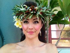 Hula girl makeup