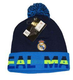 30336732224 Real Madrid Beanie Pom Pom Skull Cap Hat New Season (Blue)  Real Madrid Fc  Beanie W-POM Skull Cap Hat . New Season. This Beanie is officially licensed  with ...
