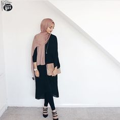 Islamic Fashion, Muslim Fashion, Modest Fashion, Girl Fashion, Casual Hijab Outfit, Hijab Chic, Arab Swag, Hijab Ideas, Conservative Fashion